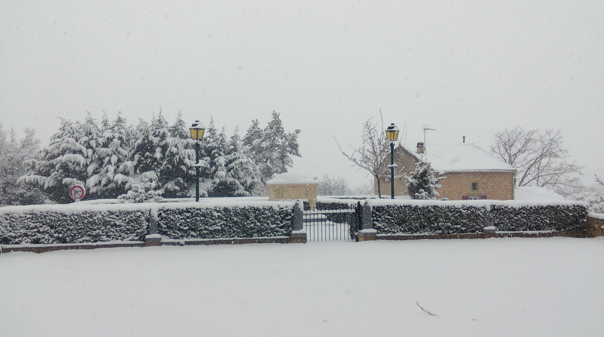 Viviers sous la neige le 03.02.2015